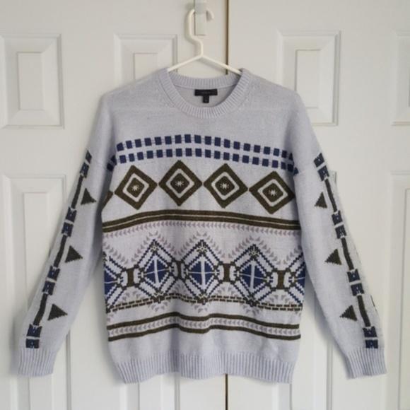 J.Crew   Aztec Blue-Grey Sweater